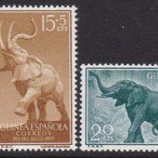 Sellos: GUINEA 1957 - DÍA DEL SELLO SERIE COMPLETA NUEVA SIN FIJASELLOS EDIFIL Nº 369/372. Lote 235266425