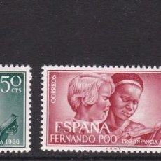 Sellos: FERNANDO POO 1966 - PRO INFANCIA SERIE COMPLETA NUEVA SIN FIJASELLOS EDIFIL Nº 248/250. Lote 235273055