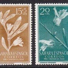 Timbres: SAHARA 1956 - FLORA SERIE COMPLETA NUEVA SIN FIJASELLOS EDIFIL Nº 126/129. Lote 235280065