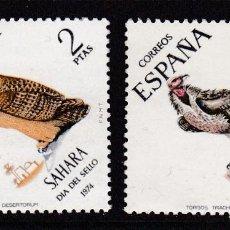 Timbres: SAHARA 1974 - FAUNA SERIE COMPLETA NUEVA SIN FIJASELLOS EDIFIL Nº 317/318. Lote 235280390