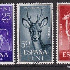 Timbres: IFNI 1964 - FAUNA SERIE COMPLETA NUEVA SIN FIJASELLOS EDIFIL Nº 203/205. Lote 235282870