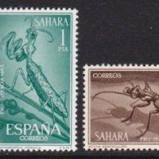 Timbres: SAHARA 1965 - INSECTOS SERIE COMPLETA NUEVA SIN FIJASELLOS EDIFIL Nº 242/245. Lote 235291945