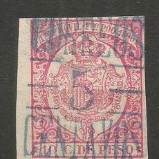 Sellos: SELLO FERNANDO POO 1896-99 FISCAL HABILITADO PARA CORREOS EDIFIL NUM. 49A USADO. Lote 235499285