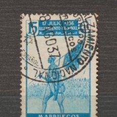 Sellos: MARRUECOS. Nº 173. AÑO 1937. ALZAMIENTO NACIONAL. USADO.. Lote 235701065