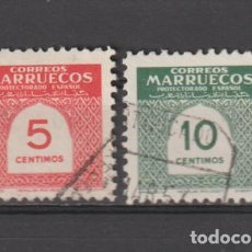 Sellos: MARRUECOS. Nº 382/83. AÑO 1953. CIFRAS. USADO.. Lote 235792515