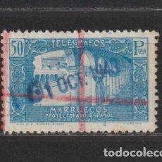 Sellos: MARRUECOS - TELEGRAFOS. Nº 50. AÑO 1938. VISTAS. USADO.. Lote 235834590