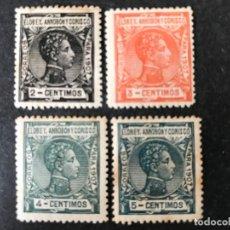Selos: ELOBEY, ANNOBÓN Y CORISCO. VARIOS SELLOS 1907 EDIFIL 36/9. Lote 235995605