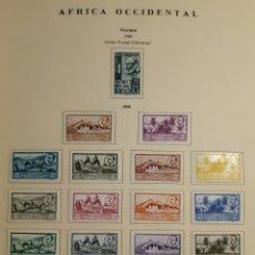 Sellos: SELLOS ESPAÑA AFRICA OCCIDENTAL 1949-50. Lote 236014700