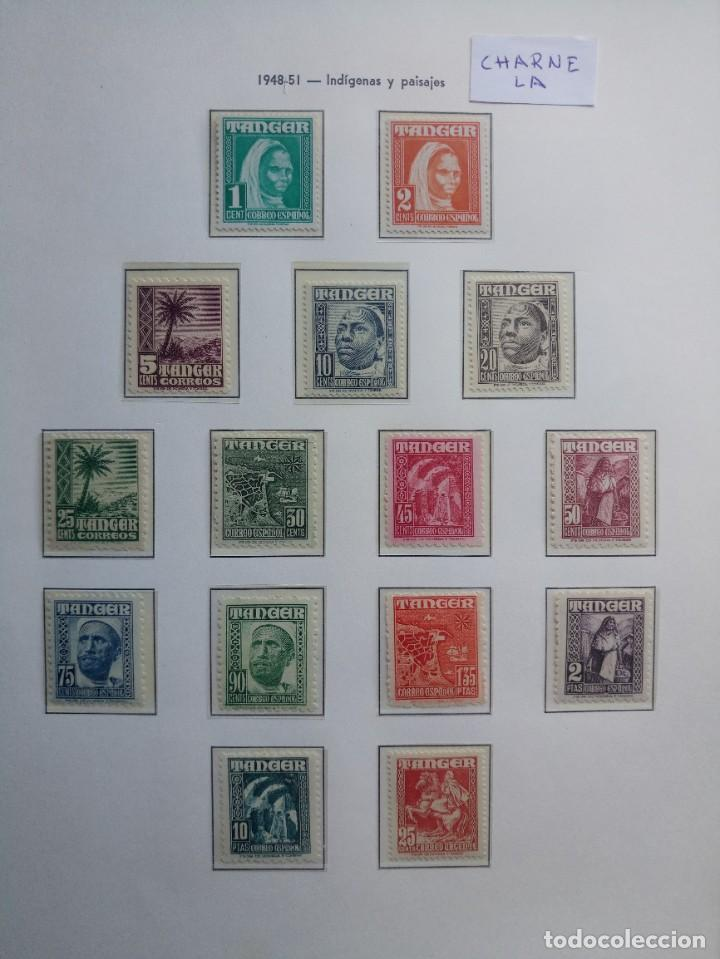 TÁNGER SERIE COMPLETA DEL AÑO 1948 EDIFIL 151/165 CON CHARNELA * (Sellos - España - Colonias Españolas y Dependencias - África - Tanger)