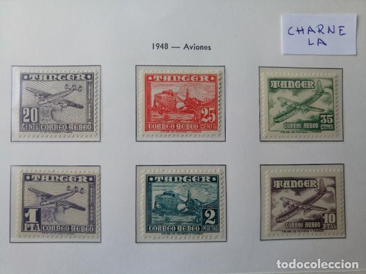 TÁNGER SERIE AÉREA COMPLETA DEL AÑO 1948 EDIFIL 166/171 CON CHARNELA * (Sellos - España - Colonias Españolas y Dependencias - África - Tanger)