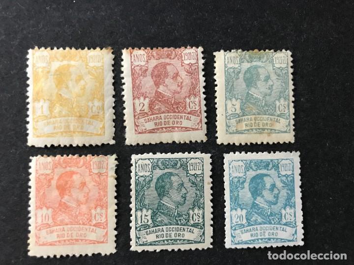 RIO DE ORO AÑO 1921 EDIFIL 130/5* MLH (Sellos - España - Colonias Españolas y Dependencias - África - Río de Oro)