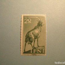 Sellos: IFNI 1959 - FAUNA - EDIFIL 154 - CABRA - NUEVO.. Lote 236219320