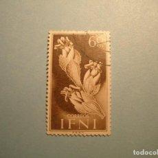 Sellos: IFNI 1954 - FLORA - EDIFIL 108 - TRAGANUM SP - USADO.. Lote 236222230