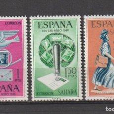 Sellos: SAHARA. Nº 268/70*. AÑO 1968. DÍA DEL SELLO. NUEVO CON FIJASELLOS.. Lote 236259510