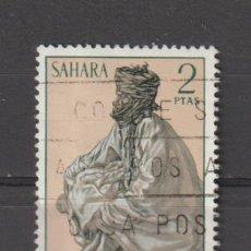 Sellos: SAHARA. Nº 299. AÑO 1972. TIPOS INDÍGENAS. USADO.. Lote 236262800