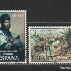 Sellos: SAHARA. Nº 312/13. AÑO 1973. PINTURAS. USADO.. Lote 236264110
