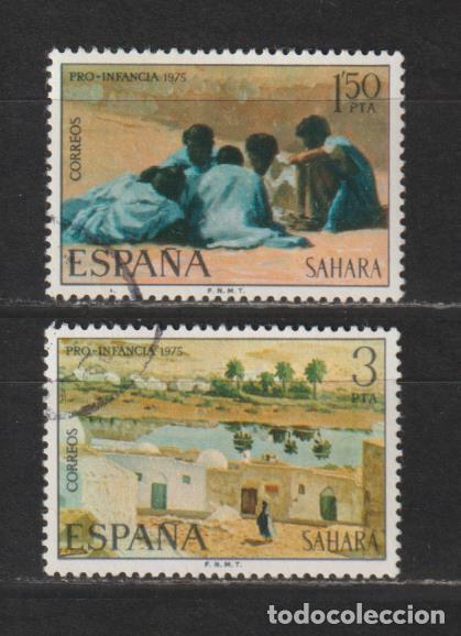 SAHARA. Nº 320/21. AÑO 1975. PRO INFANCIA - PINTURAS. USADO. (Sellos - España - Colonias Españolas y Dependencias - África - Sahara)