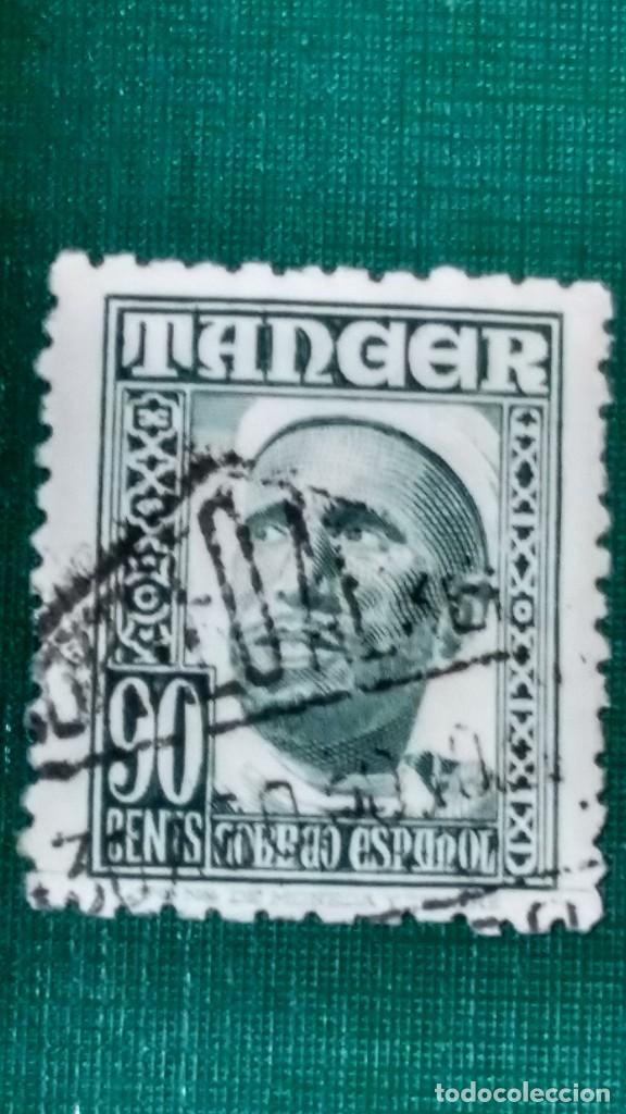 SELLO TÁNGER EDIFIL 161. INDÍGENAS Y PAISAJES 1948-51. USADO. (Sellos - España - Colonias Españolas y Dependencias - África - Tanger)