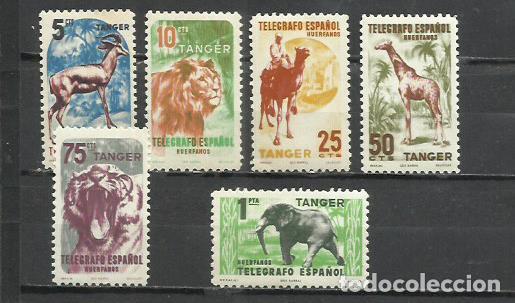 2485-SERIE COMPLETA TANGER BENEFICENCIA HUERFANOS TELEGRAFO 1957 Nº79/84 MARRUECOS COLONIA ESPAÑOLA (Sellos - España - Colonias Españolas y Dependencias - África - Marruecos)