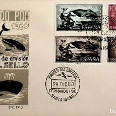 Sellos: 1960 FERNANDO POO FDC DIA DEL SELLO. Lote 236776125