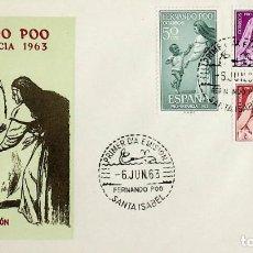 Sellos: 1963 FERNANDO POO FDC PRO INFANCIA. Lote 236777405