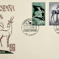 Sellos: 1961 SAHARA ESPAÑOL FDC PRO INFANCIA. Lote 236799650