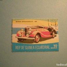 Sellos: GUINEA ECUATORIAL - COCHES DE ÉPOCA - MAYBACH ZEPPELIN GO/200 HP 1936.. Lote 236876900