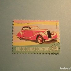 Sellos: GUINEA ECUATORIAL - COCHES DE ÉPOCA - LAGONDA M 45 - 1934.. Lote 236877875