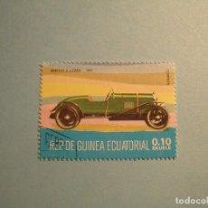 Sellos: GUINEA ECUATORIAL - COCHES DE ÉPOCA - BENTLEY 3 LITROS, 1921.. Lote 236878755