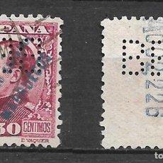 Sellos: ESPAÑA TANGER 1930 EDIFIL 67 PERFORADO B E M - 19/20. Lote 237424340