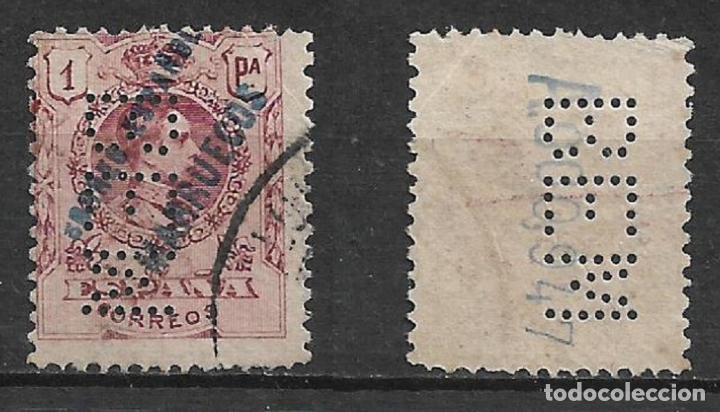 ESPAÑA TANGER 1909 EDIFIL 9 PERFORADO B E M - 19/20 (Sellos - España - Colonias Españolas y Dependencias - África - Tanger)