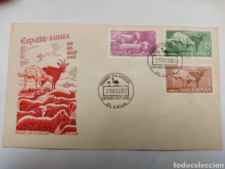 SOBRE PRIMER DIA SÁHARA EL A AIUN 1962 (Sellos - España - Colonias Españolas y Dependencias - África - Sahara)
