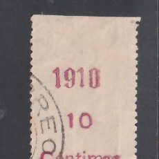 Selos: RIO DE ORO, 1910 EDIFIL Nº 55MP. MARGEN DEL PLIEGO CON HABILITACIÓN.. Lote 240922140