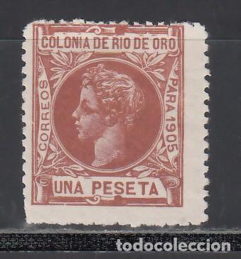 RIO DE ORO, 1905 EDIFIL Nº 11N /*/, NUMERACIÓN A.000,000. MUESTRA (Sellos - España - Colonias Españolas y Dependencias - África - Río de Oro)