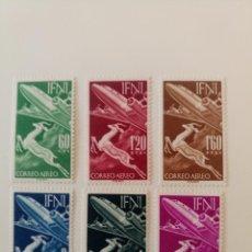 Selos: SERIE AÉREA COMPLETA DEL AÑO 1953 EDIFIL 89/94 EN NUEVO **. Lote 241774355