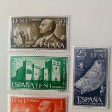 Sellos: JEFATURA DEL ESTADO DEL AÑO 1961 EDIFIL 179/182 EN NUEVO **. Lote 256007190