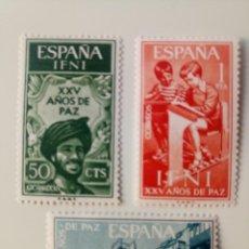 Sellos: XXV AÑOS DE PAZ DEL AÑO 1965 EDIFIL 209/211 EN NUEVO **. Lote 259751935