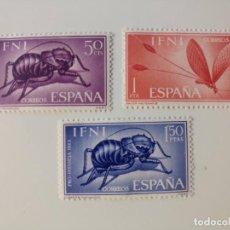 Sellos: PRO. INFANCIA INSECTOS DEL AÑO 1965 EDIFIL 212/214 EN NUEVO **. Lote 253532400