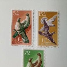 Sellos: PRO. INFANCIA PALOMAS DEL AÑO 1957 EDIFIL 135/137 EN NUEVO **. Lote 256009805