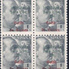 Sellos: GUINEA. EDIFIL 273A HABILITADO PARA 5 CTS. 1949 (BLOQUE DE 4). LUJO. MNH **. Lote 242456565