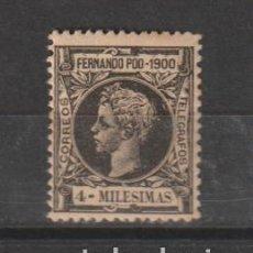 """Timbres: FERNANDO POO. Nº 77*. AÑO 1900. ALFONSO XIII - LEYENDA """"1900"""". NUEVO CON FIJASELLOS.. Lote 242489850"""