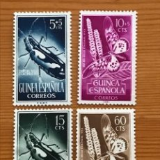 Sellos: GUINEA ESPAÑOLA, DIA DEL SELLO, 1953, EDIFIL 330 AL 333, NUEVOS CON FIJASELLOS. Lote 242939895
