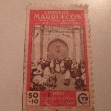 Sellos: SELLO MARRUECOS 50 + 10 CTS PRO TUBERCULOSOS SELLADO. Lote 243386805