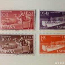 Sellos: DIA DEL SELLO TRANSPORTES DEL AÑO 1961 EDIFIL 183/186 EN NUEVO **. Lote 243448010