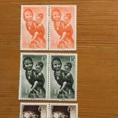 Sellos: IFNI, PRO INFANCIA, 1954, EN PAREJA, EDIFIL 114, 116 Y 117, NUEVOS CON FIJASELLOS. Lote 243529940