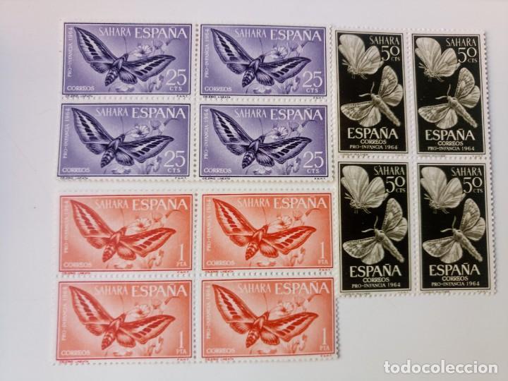 PRO. INFANCIA EN BL4 DEL AÑO 1964 EDIFIL 225/227 EN NUEVO ** (Sellos - España - Colonias Españolas y Dependencias - África - Sahara)