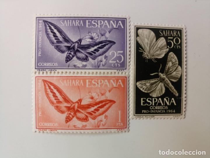 PRO. INFANCIA DEL AÑO 1964 EDIFIL 225/227 EN NUEVO ** (Sellos - España - Colonias Españolas y Dependencias - África - Sahara)
