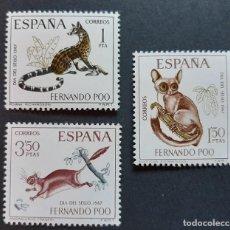 Sellos: SELLOS FERNANDO POO - 1967 - ED. 259 A 261 - DIA DEL SELLO - NUEVOS /**/. Lote 243673480