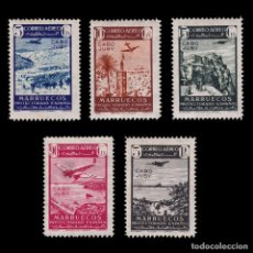 Sellos: CABO JUBY. 1942.PAISAJES AVIÓN VUELO.SERIE MNH.EDIFIL.133-34. Lote 244593385