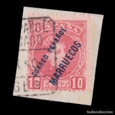 Sellos: MARRUECOS 1903-09.HABILITADO.10C USADO.EDIFIL.4. Lote 244740360